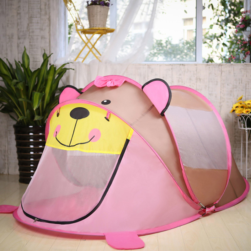 Children's Pop Up Toy Tent Indoor And Outdoor Play Tent Baby Toys House Bear Dog Toy Kids Climbing Folding Tent Marine Ball Pool