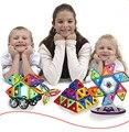 66 Pcs 85 Pcs Magformers Magnéticos Crianças Brinquedos Educativos Semelhante Marca Diy Tijolos de Construção 3D Blocos de Brinquedo Magnético