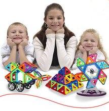 66Pcs 85Pcs Magnetic Educational Kids Toys Similar Magformers Brand Diy Building Bricks 3D Magnetic Blocks Toy
