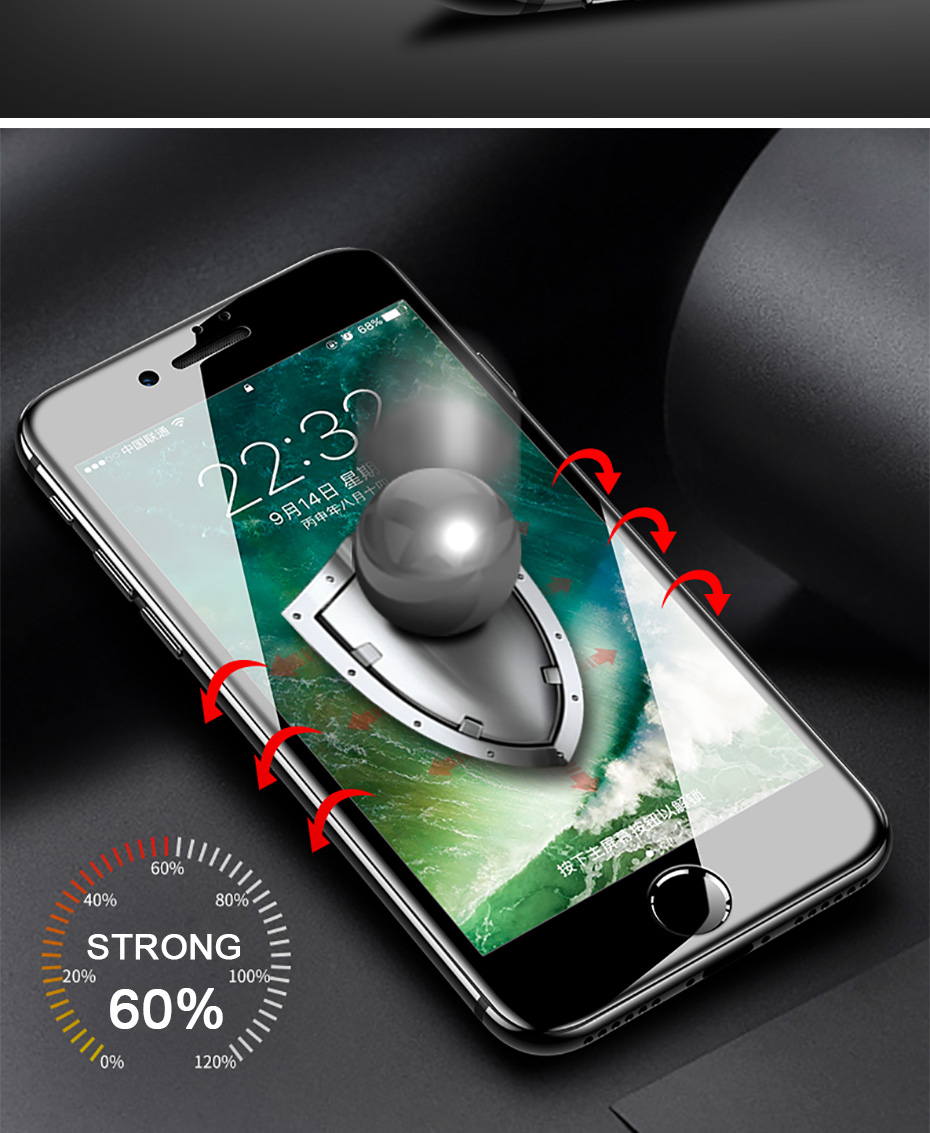 5D Tempered Glass For iPhone XS XR XS MAX Screen Protector Cover For iPhone 8 X 7 6 6S Plus Screen Protector Cover Case (4)