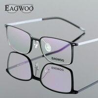 EAGWOO EMS Pure Titanium Eyeglasses Girl Men Full Rim Optical Frame Prescription Spectacle Designed Myopia Eye Glasses 890012