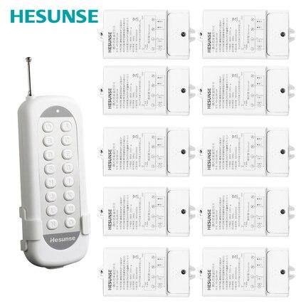 HS-QL081GM plusieurs façons de 10-11 façons avec 110-220 v longue Distance télécommande commutateur 4000 W haute puissance sans fil commutateur