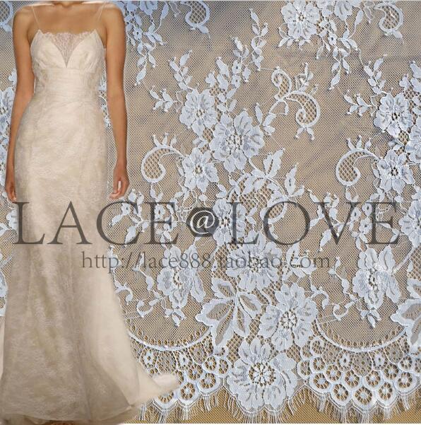 6 м / лот французька вії мереживна тканина 150 см біла чорна diy вишукана мереживна вишивка одяг весільні сукні аксесуари
