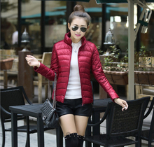2014 New Parka Women Autumn And Winter Coat Thin Warm Jacket Duck Down Fashion Ladies Casual Slim Outwear