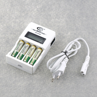 BTY 903 LCD Battery Display Smart Charger For Rechargeable AA AAA Batteries 4PCS 1350mAh 1 2V