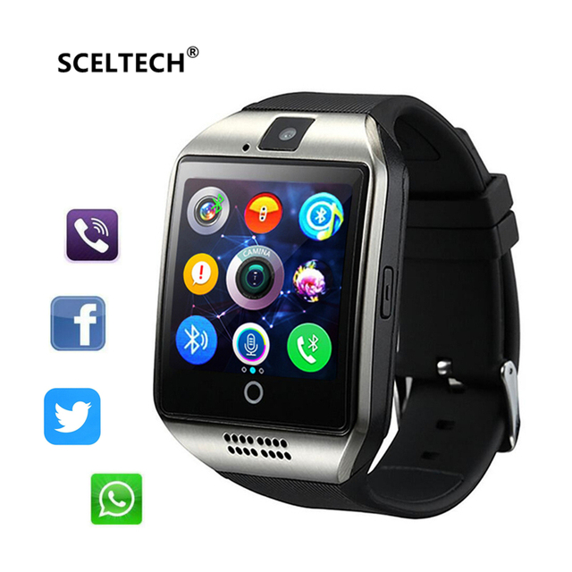 SCELTECH Smart Watch Q18 Passometer with Touch Screen camera Support TF card Bluetooth smartwatch for Android IOS Phone