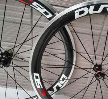 chinese oem decal 700C ace carbon clincher road bike wheels 50mm with Alloy Brake surface - DISCOUNT ITEM  16% OFF All Category