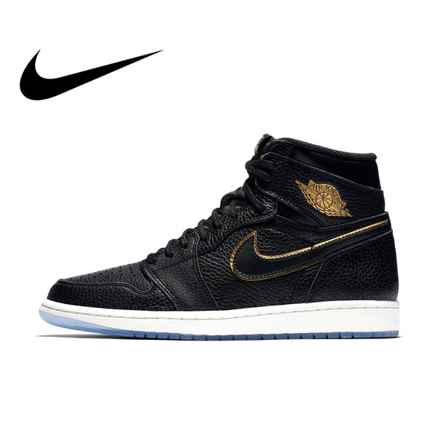size 40 2a02b 13a80 Original Official Authentic NIKE AIR JORDAN 1 RETRO HIGH OG Men Basketball  Shoes Sneakers Sport Outdoor Comfortable Breathable