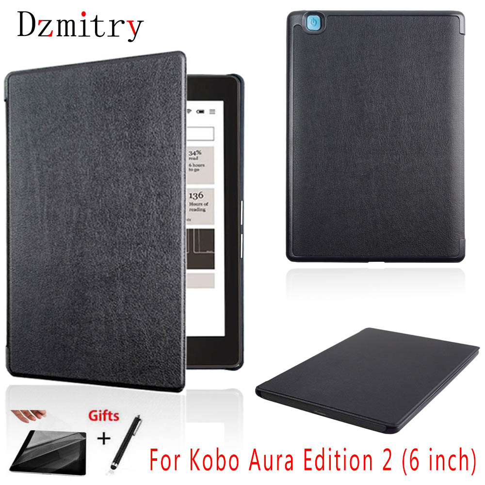 funda Pu leather eBook Cover for capa Rakuten Kobo Aura Edition 2 New 6 inch eReader Protection Case for kobo aura N236+Film+penfunda Pu leather eBook Cover for capa Rakuten Kobo Aura Edition 2 New 6 inch eReader Protection Case for kobo aura N236+Film+pen