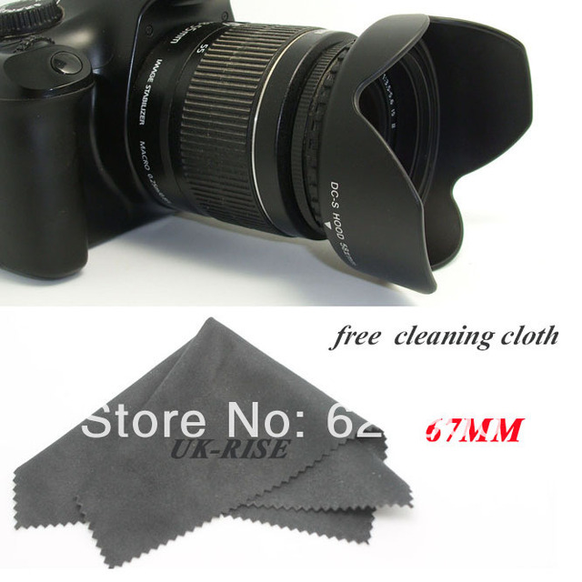 Tracking number+100% GUARANTEE Professional 67MM Reversible Petal Flower Lens Hood for Canon Nikon Sony Petal Rebel camera
