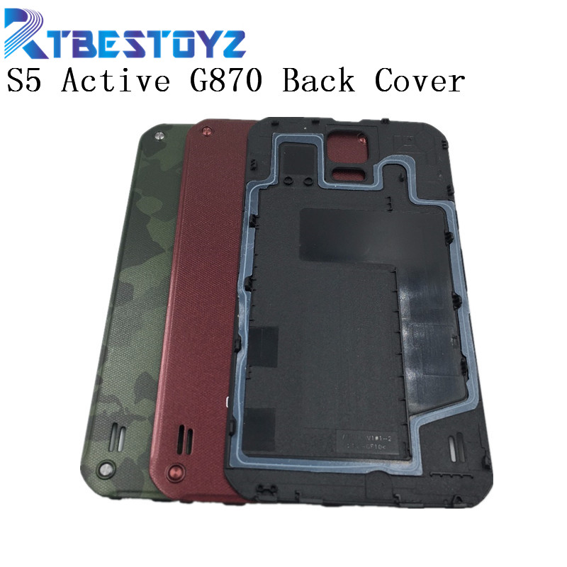 RTBESTOYZ Original Battery Back Door Rear Cover For Samsung Galaxy S5 Active <font><b>G870</b></font> Housing Door Battery Back Cover image