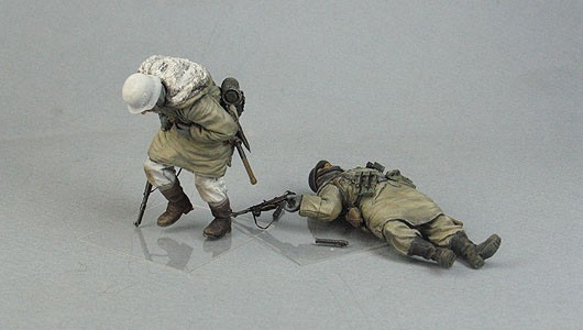 Scale Models 1/ 35   Panzergrenadiers In Action Soldiers   Figure Historical  Resin Model