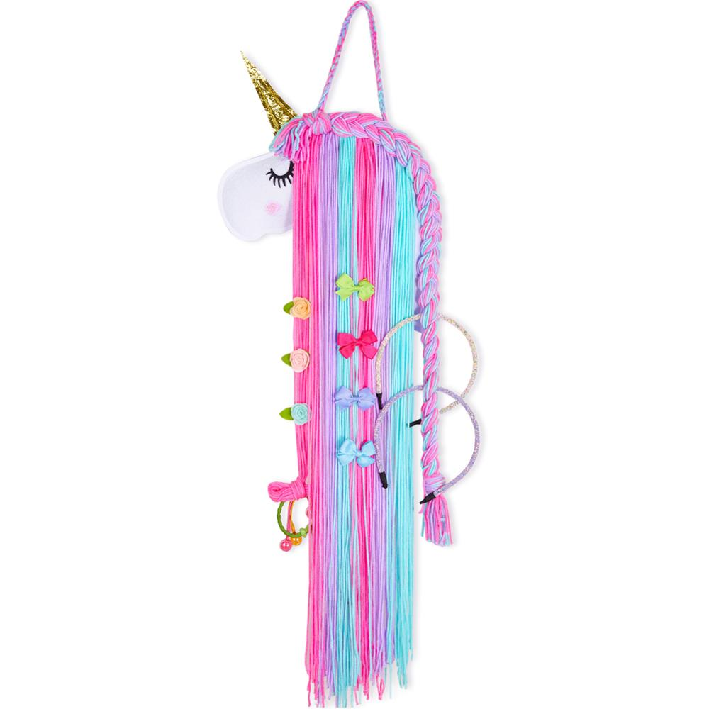 Unicorn Hair Bows Hair Clips Hairband Storage Belt Accessories For Girls