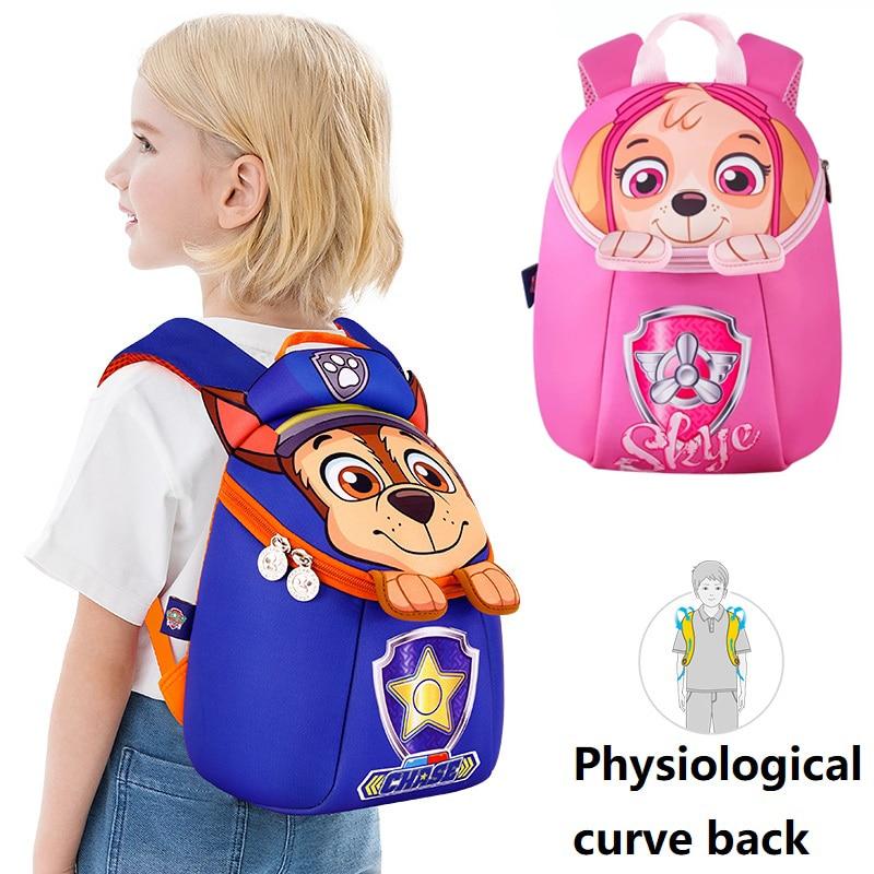 2019 Paw Patrol Kids Backpack School Bag Action Figure Bag Patrulha Cute Skye Chase Kindergarten Mochila Escolar Birthday Gift