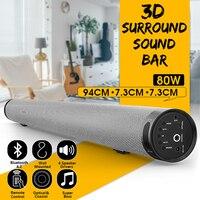 bluetooth Soundbar TV Wireless Speaker Metal Long Cylindrical Stereo Audio for Home Partybluetooth Playback Wall Soundbar
