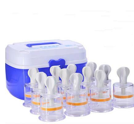 Appareil de ventouses sous vide à 12 réservoirs, massage à main, ensemble humide de promotion de la circulation sanguine pour éliminer la stase sanguine