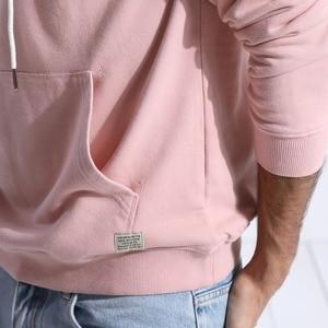 Image 5 - Мужское худи с вышивкой SIMWOOD, повседневный приталенный свитшот с капюшоном и карманом «кенгуру», новая модель 180221 большого размера на осень, 2019