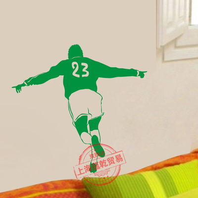 Football Vinyl Wall Sticker Soccer Player Brazil Mural Art Wall Decal Boys Bedroom Living Room Decorative Home Decoration