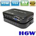 Портативный Мини Full HD 1080 P H6w Media Center Мультимедийный Плеер с Поддержкой USB Host