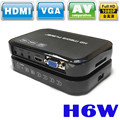 Portátil Mini Full HD 1080 p Media Center H6w Multimedia Player Suporta USB Host