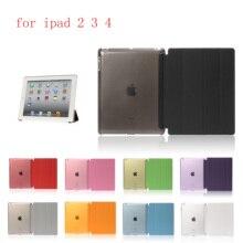 Case For iPad 2 3 4 PU Leather Siamese shell Flip Smart Cover  Auto Sleep/Wake Up A1460`A1459`A1458`A1416`A1430