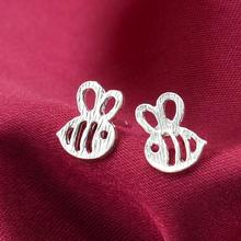 Daisy 1 Pair Fashion Cute Bee Stud Earrings Female Honey Bee Earrings Unique Design Small Animal Earrings as a Gift for Women #1 pair of cute kitten earrings for women