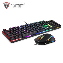 Original Motospeed CK888 NKRO Blue Switch 104Key Mechanical Gaming Keyboard and Mouse Combo for Gaming Set Professional Keyboard
