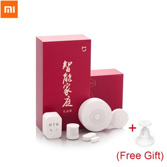 Original Xiaomi Smart Home ชุดอินฟราเรด Body SENSOR ใหม่ GATEWAY เซนเซอร์ประตูหน้าต่างสวิทช์ไร้สาย ZigBee ซ็อกเก็ต 5 IN 1