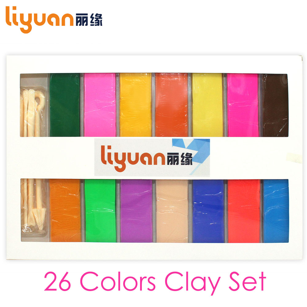 26 Colors Polymer Clay DIY Soft Modelling Clay Set with 5 pcs Tools for Child Nontoxic Slime Toys Malleable ice cream machine clay mold tool set 13 16pcs childrentoy clay skin mud handmade clay nontoxic pretend play developmental toys