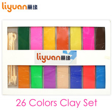 26 Colors Polymer Clay DIY Soft Modelling Set with 5 pcs Tools for Child Nontoxic Slime Toys Malleable