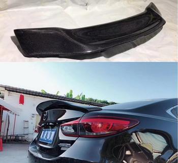 Fibre de carbone voiture aile arrière coffre spoiler R style convient pour Mazda 6 Mazda 3 Axela berline Mazda 6 Atenza 2003-2019