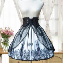 Оригинальная классическая юбка в стиле Лолиты в стиле ретро с крестиком в стиле Хепберн SK