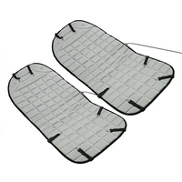 Car Seat Cushion Pad Electric Heated Black Gray Universal 2Pcs Set Automobiles Seat Covers Winter Supply
