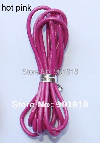 XINYAO 10M Dia 2mm 100% Genuine Round Leather Cord Jewelry Cords DIY Accessories for Necklace Bracelet Jewelry Making Supplies