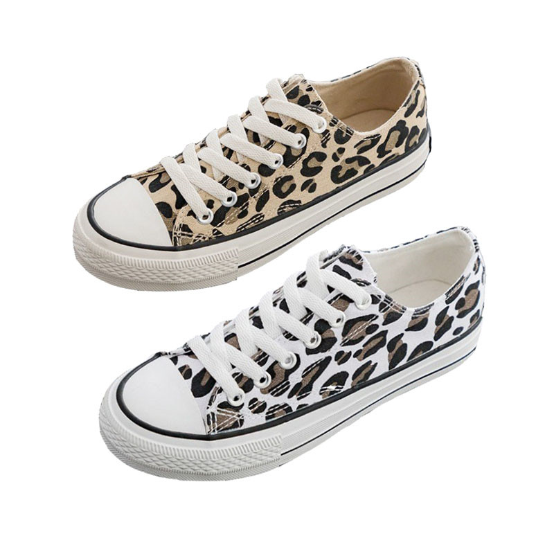 2019 Spring Leopard Canvas Shoes In Women Vulcanize