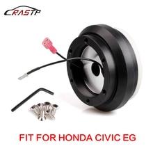 RASTP-High Quality Black Racing Aluminum Steering Wheel Hub Adapter with 6 Hole Boss Kit For Honda Civic EG RS-QR010-EG