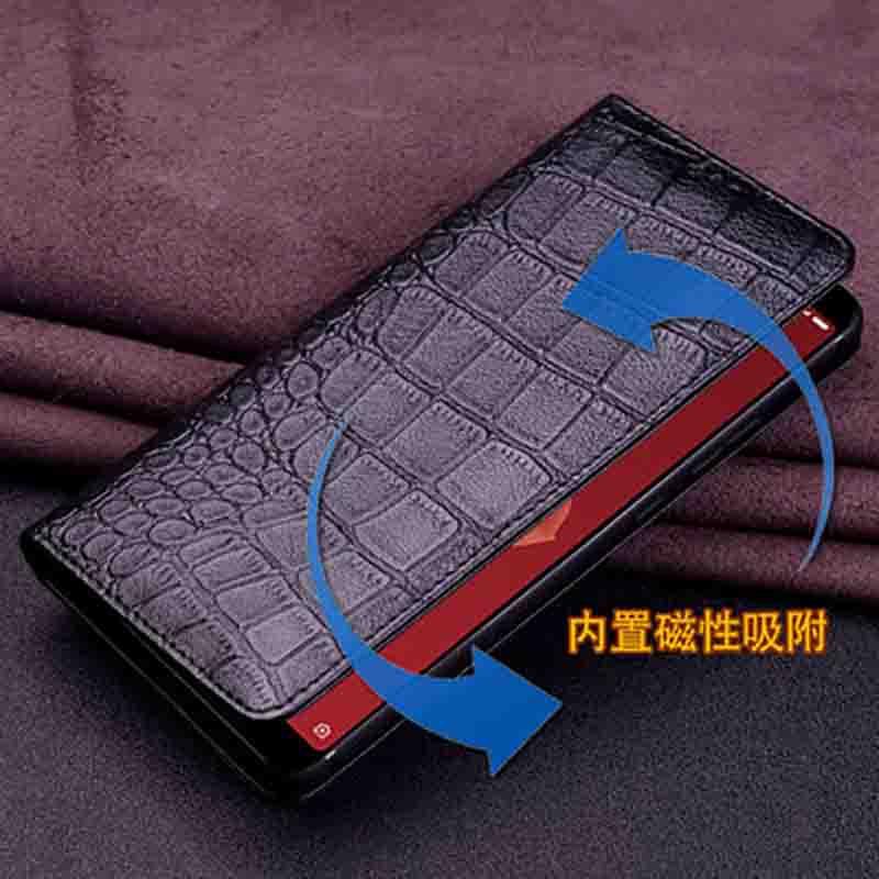 En Cuir véritable étui de téléphone pour xiaomi mi 6X6 X housse arrière Pour xiaomi mi 6X6 X étui coque arrière - 4