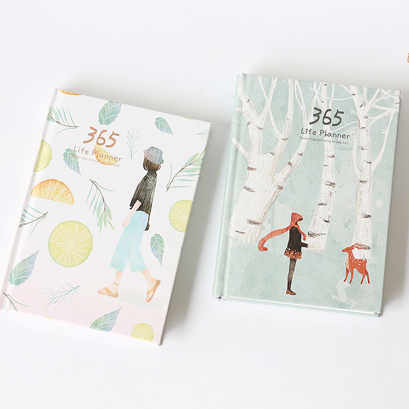 2018 A5 Planner Agenda Organizer Notebook 365 Days Planner Diary Hardcover Traveller Notebook Office Supplies Stationery Store 365 day thick hardcover personal diary