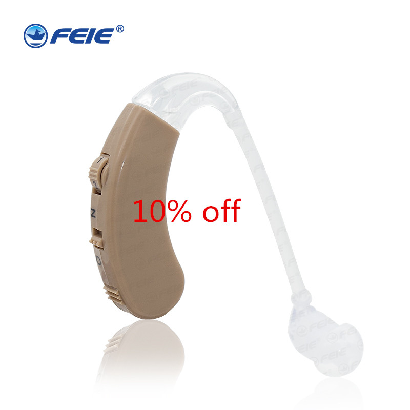 Cheap BTE deafness hearing aid S-9C Beige China Hearing Aid Earphones for Deafs Drop Shipping listening device s 217 digital audio service hearing aid bte hearing impairement for elderly factory direct china drop shipping