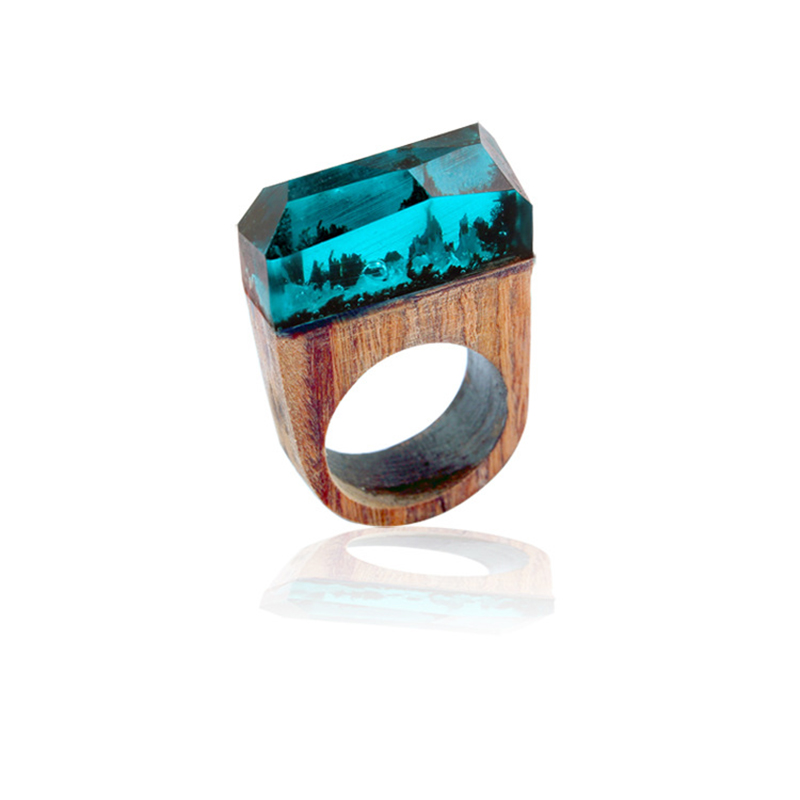 Adomaner Fashion Wood Ring For Men Personality National