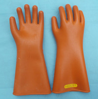 1pair 25kv Insulating Work Gloves Electrical Insulating High Voltage Protecting Safety Gloves