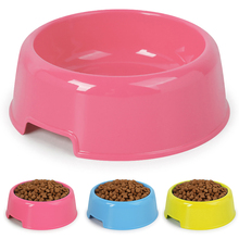 1Pc High Quality Solid Color Pet Bowls Candy-Colored Lightweight Plastic Single Bowl Small Dog Cat Feeding Supplies