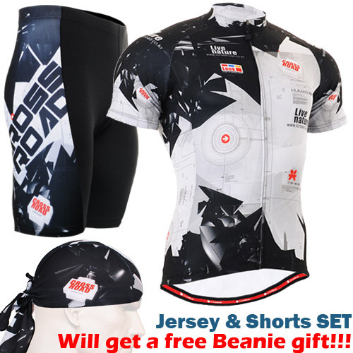 cycling sets 2016 Breathable Ciclismo Jerseys MTB Bicycle Clothes Ropa Ciclismo Suit Short Sleeve balck white Mens