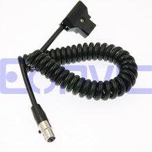 Eonvic 12 В ТВ logie монитор Мощность кабель, D-Tap мужчин(жестяным) MINI XLR 4pin спиральный Мощность кабель для ARRI красный камеры