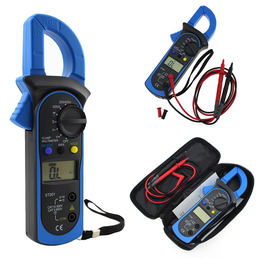 ST201 цифровые клещи мультиметр с AC/DC напряжение тест er Ток Сопротивление транзистор тест мульт измеритель мощности