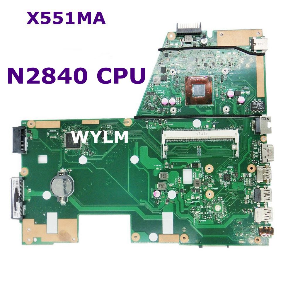 X551MA With N2840 CPU Mainboard REV 2.0 For ASUS X551M X551 X551MA Laptop Motherboard DDR3L 100% Tested Working free shipping free shipping k42dr mainboard rev2 3 for asus a42d k42d k42dy k42dr laptop motherboard tested working