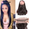 "Grade 7A Brazilian Virgin Hair 360 Lace Frontal Closure 22""*4"" Elastic Band Straight Human Hair Frontal Closure 360 Lace Frontal"