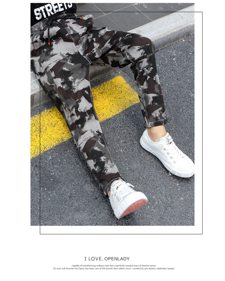 HTB1FiPLa5DxK1RjSsphq6zHrpXah - Children Jeans Pants 2019 Spring Autumn Korean Version Kids Casual Camouflage Trousers For Boys 4 6 8 10 12 Years Pants DWQ025