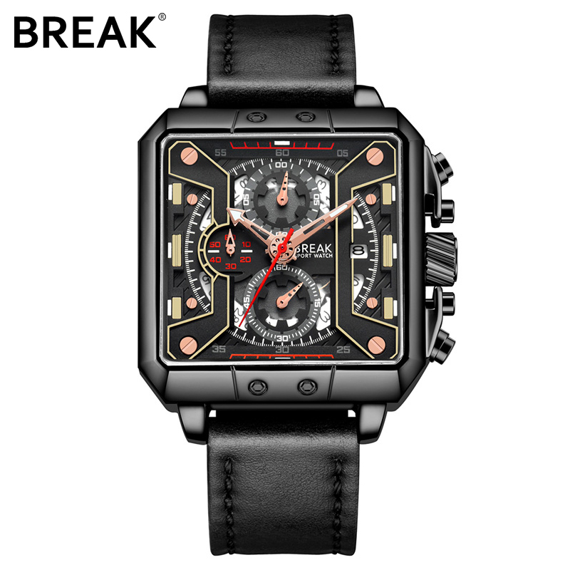 Break 2018 Fashion Quartz Male Watches Genuine Leather Watches Racing Men Students Game Run Chronograph Watch Male Glow Hands genuine jedir quartz male watches genuine leather watches racing men students game run chronograph watch male glow hands
