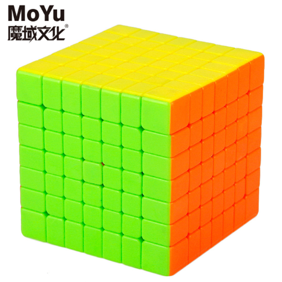Original MoYu Aofu GT 7x7x7 Speed Cubes Square Stickerless Magic Cube Puzzle Toys For Kids moyu aoshi 69mm 6x6x6 stickerless speed magic cube puzzle cubes kids educational toys pink